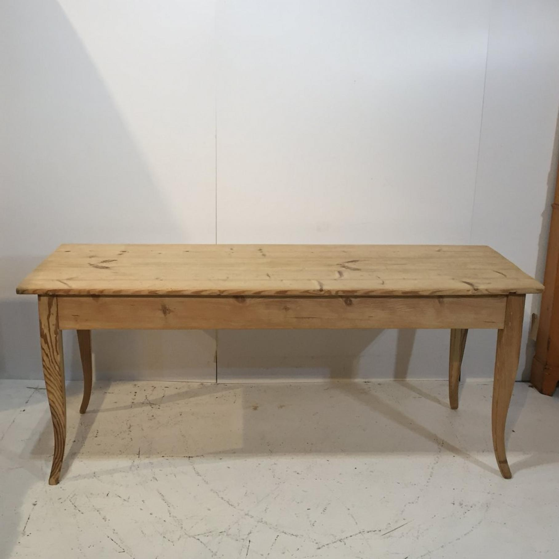 6ft Narrow French Antique Pine Table