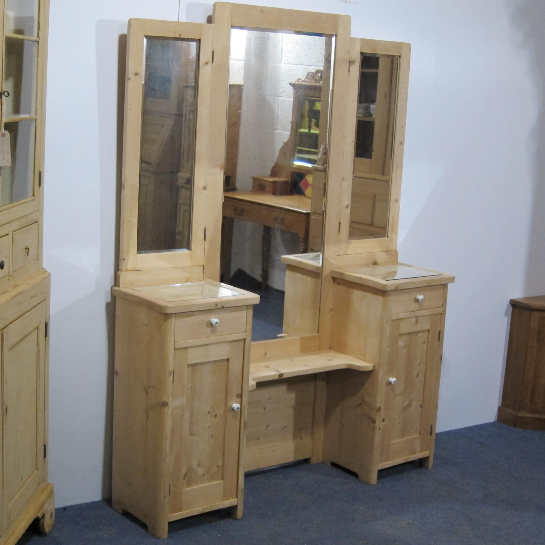 A 1930s Antique Vanity Stand Dressing Table Mirrors 1506
