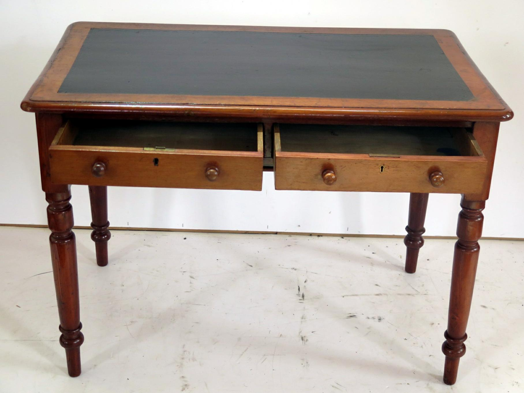 two drawer writing desk