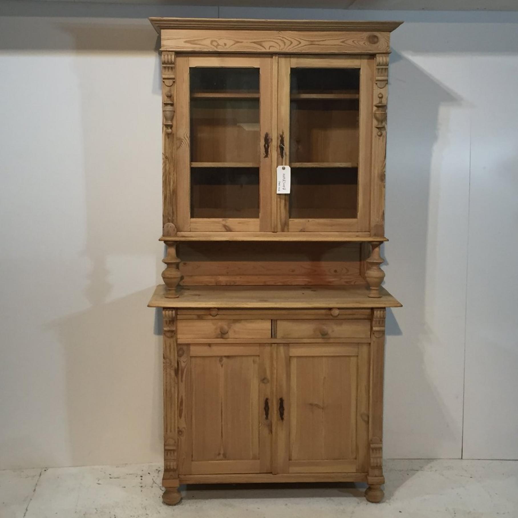Antique Pine Glazed Farmhouse Dresser