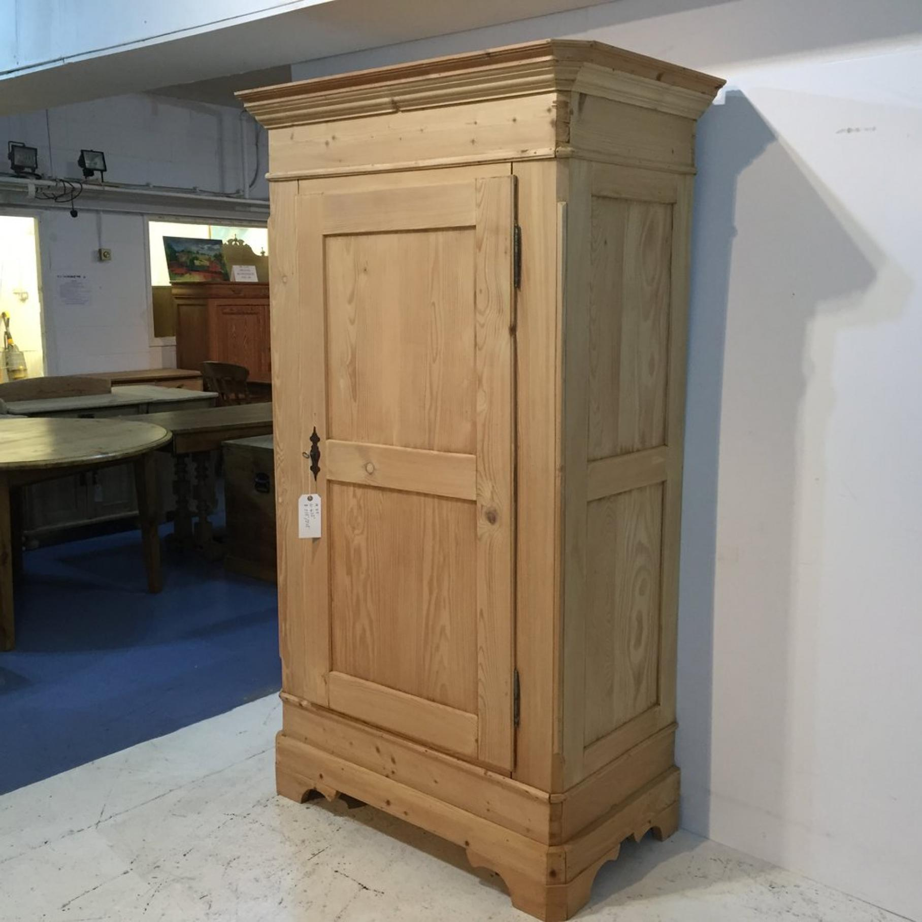 French Antique Pine Wardrobe
